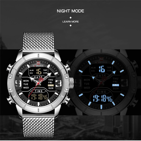 Ceas barbati, NaviForce, Business, Fashion, Digital,Analog, Mecanism Quartz Seiko Japonez | ceasuri-shop.ro 4