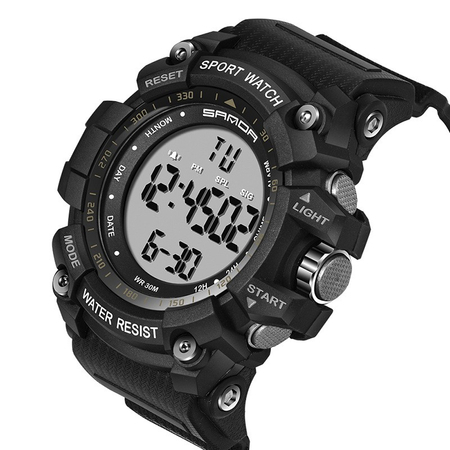 Ceas barbatesc Sanda, Sport, Militar, Army, Fashion, LED, Outdoor, Digital, Rezistent la apa, Cronometru, Alarma, Calendar 1