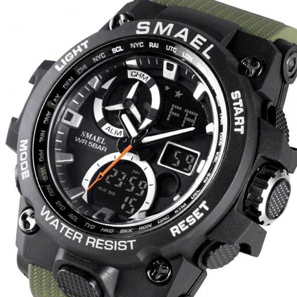 Ceas barbati Ceas barbati Smael 8011, Army, Digital, Cronograf, Sport, Militar 8011, Army, Digital, Cronograf, Sport, Militar [1]