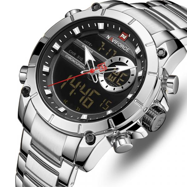 Ceas barbati elegant, Naviforce, Cronograf, Top Brand, Luxury, Quartz, Dual-time [0]