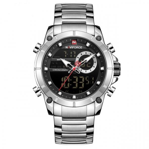 Ceas barbati elegant, Naviforce, Cronograf, Top Brand, Luxury, Quartz, Dual-time [4]
