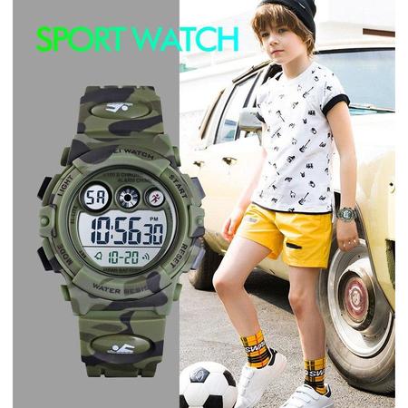 Ceas copii, Army, Militar, Digital, Sport, Rezistent la socuri 3