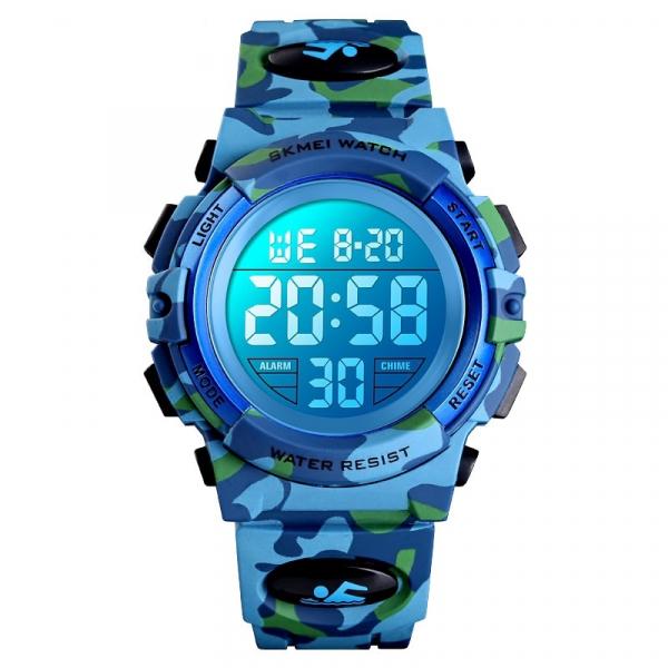 Ceas copii Skmei Digital Sport Army Alarma Cronometru 1