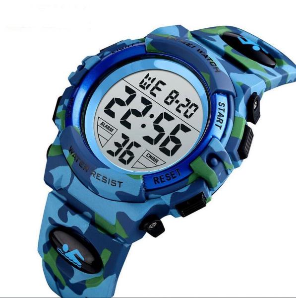 Ceas copii Skmei Digital Sport Army Alarma Cronometru 2