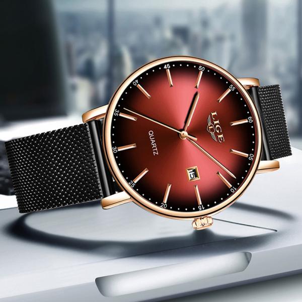 Ceas de dama Fashion Luxury Ultra subtire Quartz Otel inoxidabil 5