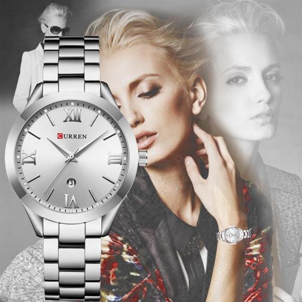 Ceas de dama elegant, Curren, Quartz, Fashion, Quartz, Otel inoxidabil 5