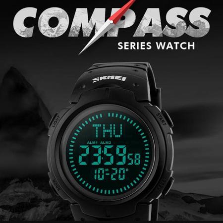 Ceas barbatesc Skmei, Busola, Sport, Digital, Compass 4
