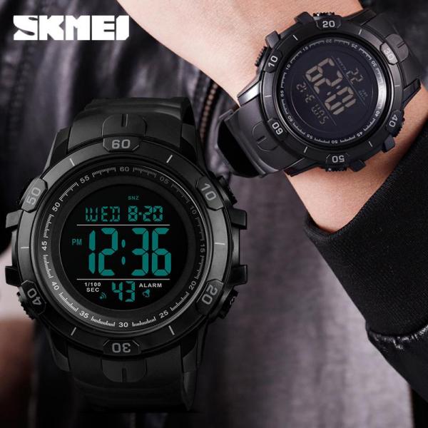 Ceas de mana barbatesc Sport Digital Militar Cronograf 3