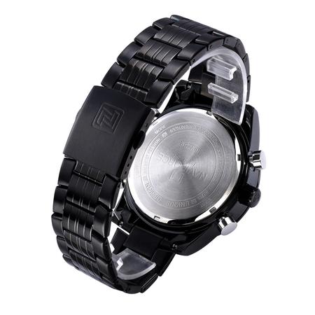 Ceas Naviforce clasic multifunctional, rezistent la apa 5Bar, mecanism Quartz, afisaj digital si analogic, alarma si cronometru 3