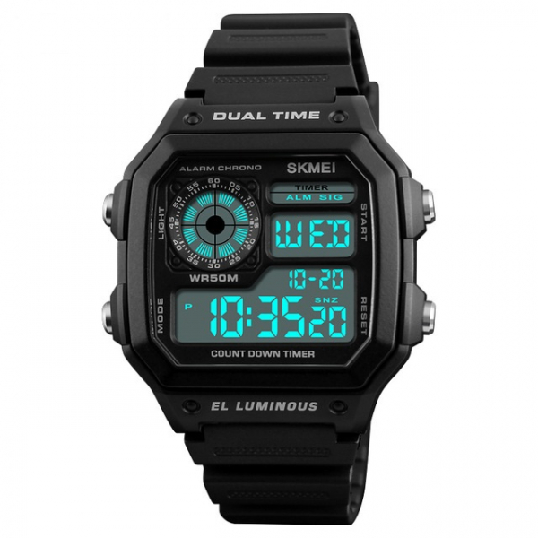 Ceas de mana pentru barbati Casual Cronograf Alarma Otel inoxidabil 3