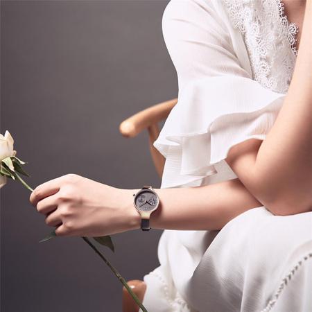 Ceas de mana dama, Casual, Elegant, Fashion Naviforce, mecanism Quartz Seiko, curea din piele naturala 3