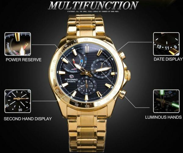 Ceas mecanic automatic, Self Wind, 2020, Fashion, Casual, Top Brand Luxury 7