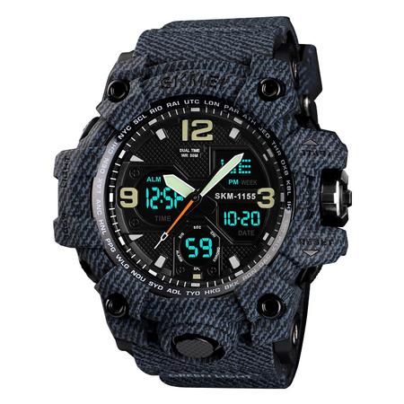 Ceas barbatesc Skmei, Militar, Shock Resistant, Digital, Sport, Army, Dual time, Cronograf 1