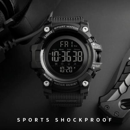 Ceas militar pentru barbati Sport Digital Rezistent la socuri Cronograf 2