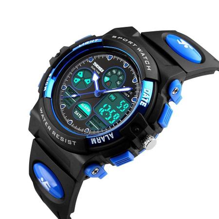 Ceas pentru baieti, Digital, Sport, Analog, Dual Time, Cronometru, Alarma, Calendar 0