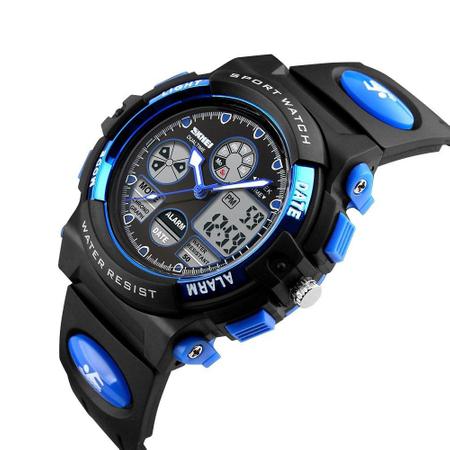 Ceas pentru baieti, Digital, Sport, Analog, Dual Time, Cronometru, Alarma, Calendar 2