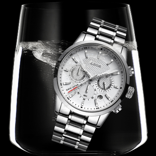 Ceas pentru barbati Elegant Quartz Fashion Otel 2