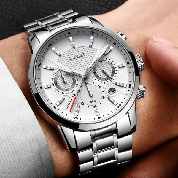 Ceas pentru barbati Elegant Quartz Fashion Otel 5