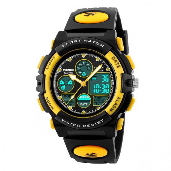 Ceas pentru copii, Sport, Dual-Time, Casual, Quartz, Curea din PU 2