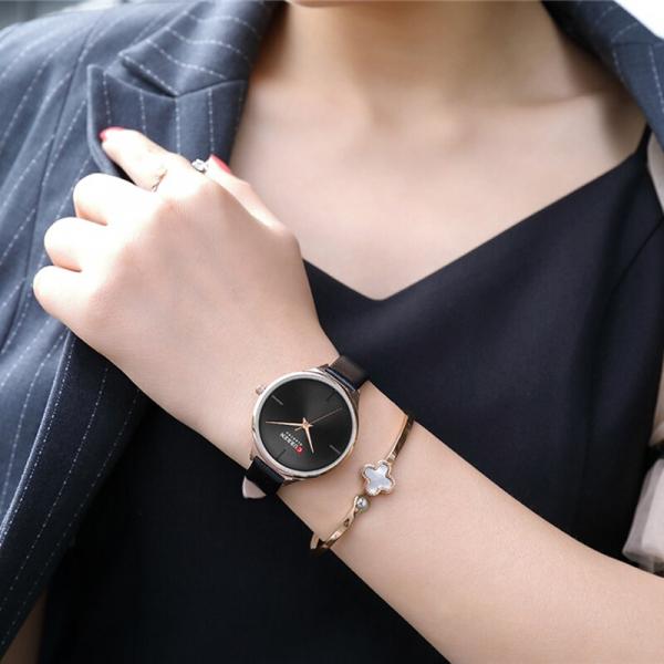Ceas pentru femei casual, Quartz, Top Brand, Quartz, Curea din piele 2