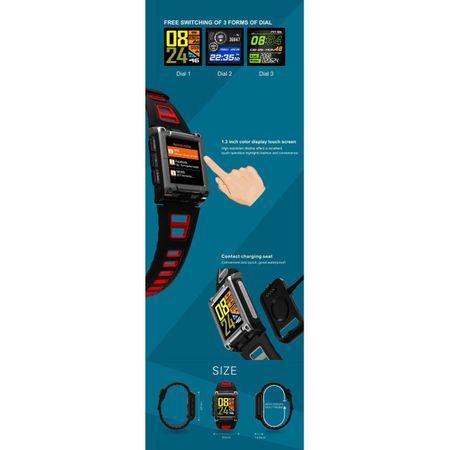 Ceas Smartwatch Twinkler, GPS, Busola, Monitorizare Multisport, Bluetooth 5