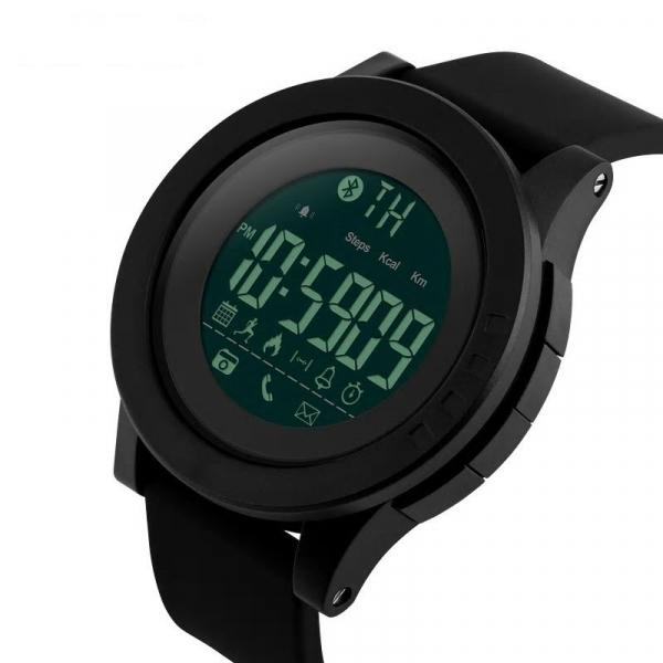 Ceas smartwatch Skmei 1255, Pedometru, Calorii, Distanta, Bluetooth, Buton Fotografiere 0
