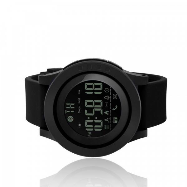 Ceas smartwatch Skmei 1255, Pedometru, Calorii, Distanta, Bluetooth, Buton Fotografiere 3
