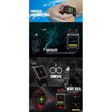 Ceas Smartwatch Twinkler, GPS, Busola, Monitorizare Multisport, Bluetooth 3