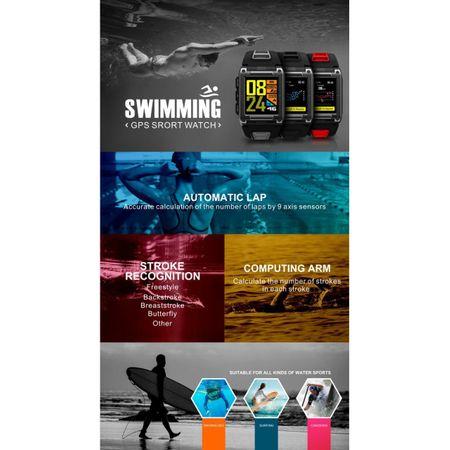 Ceas Smartwatch Twinkler, GPS, Busola, Monitorizare Multisport, Bluetooth 4