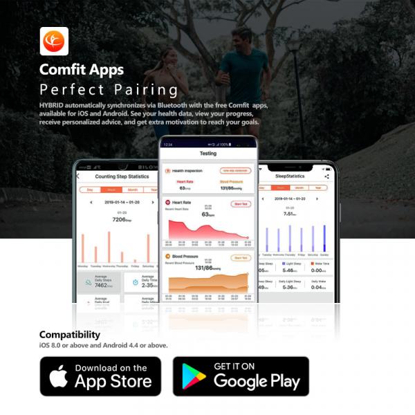 Ceas smartwatch hybrid, Monitorizeaza starea de sanatate, Activitati Fitness 9