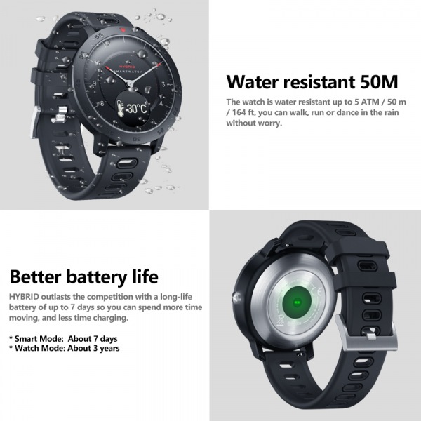 Ceas smartwatch hybrid, Monitorizeaza starea de sanatate, Activitati Fitness 10