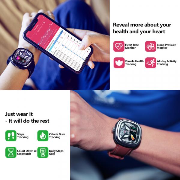 Ceas smartwatch mecanic Zeblaze Hybrid 2, Monitorizeaza sanatatea si activitatea fitness 16