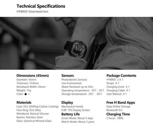 Ceas smartwatch mecanic Zeblaze Hybrid 2, Monitorizeaza sanatatea si activitatea fitness [7]