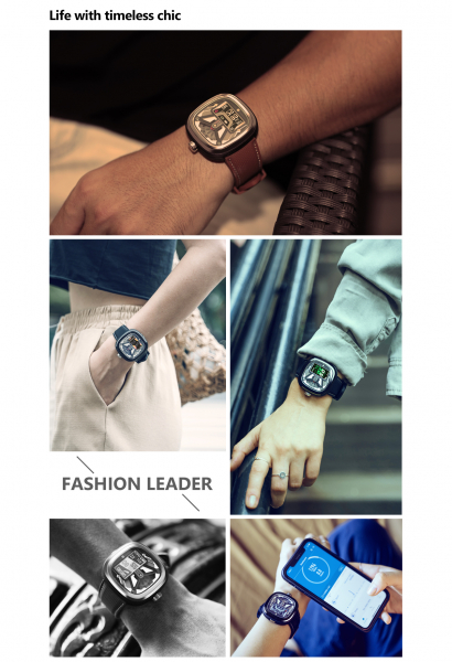 Ceas smartwatch mecanic Zeblaze Hybrid 2, Monitorizeaza sanatatea si activitatea fitness [8]