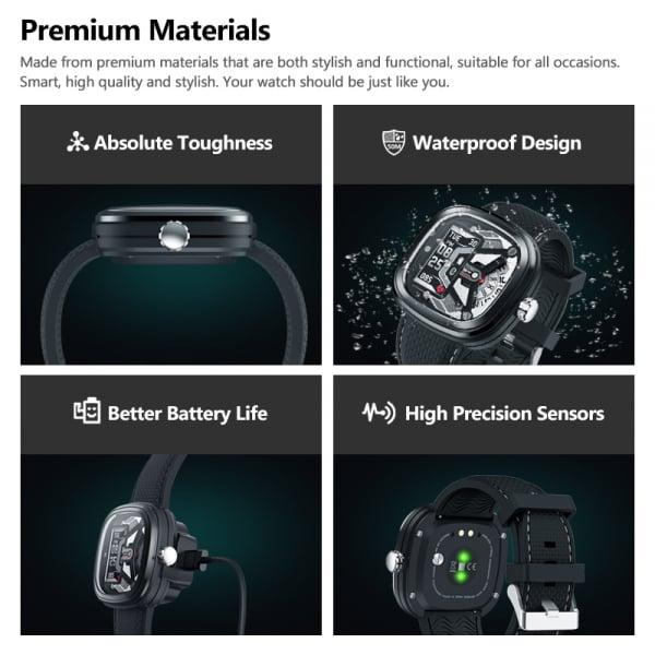 Ceas smartwatch mecanic Zeblaze Hybrid 2, Monitorizeaza sanatatea si activitatea fitness [19]