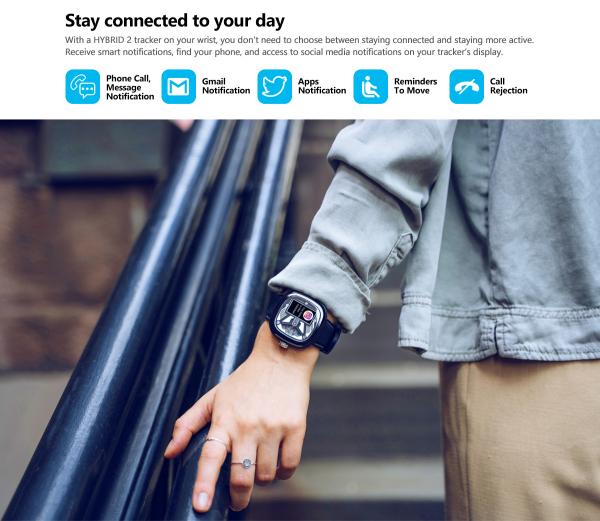 Ceas smartwatch mecanic Zeblaze Hybrid 2, Monitorizeaza sanatatea si activitatea fitness 10