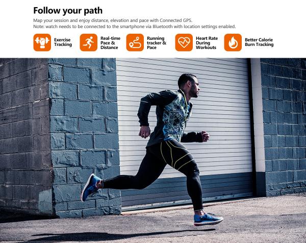 Ceas smartwatch mecanic Zeblaze Hybrid 2, Monitorizeaza sanatatea si activitatea fitness 12