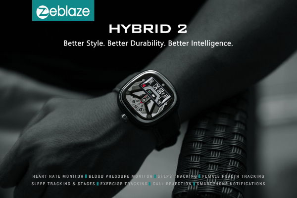 Ceas smartwatch mecanic Zeblaze Hybrid 2, Monitorizeaza sanatatea si activitatea fitness [15]