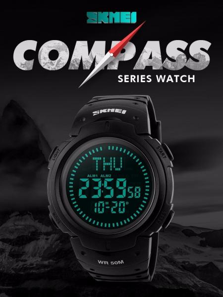 Ceas barbatesc Skmei, Busola, Sport, Digital, Compass 5
