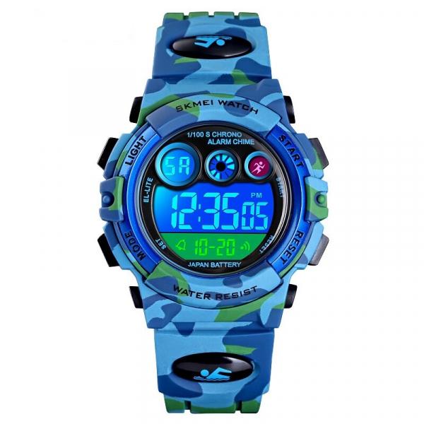 Ceas sport pentru copii, Militar, Camo, Digital, Quartz 4