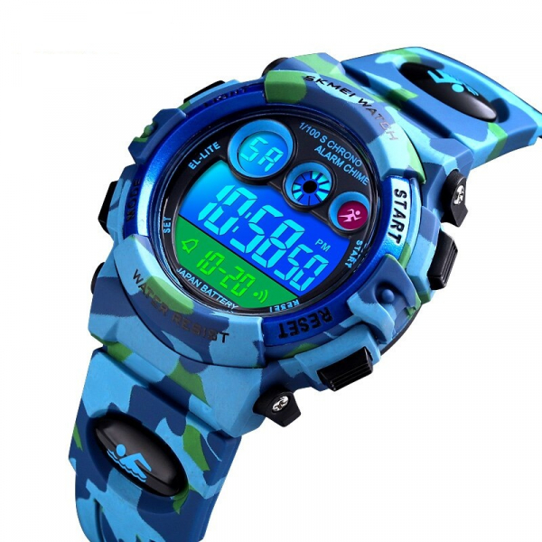Ceas sport pentru copii, Militar, Camo, Digital, Quartz 0
