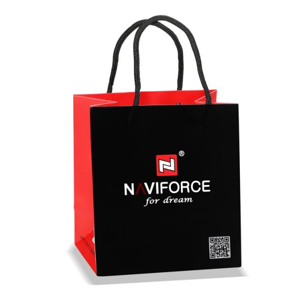 Ceas Naviforce clasic multifunctional, rezistent la apa 5Bar, mecanism Quartz, afisaj digital si analogic, alarma si cronometru 5