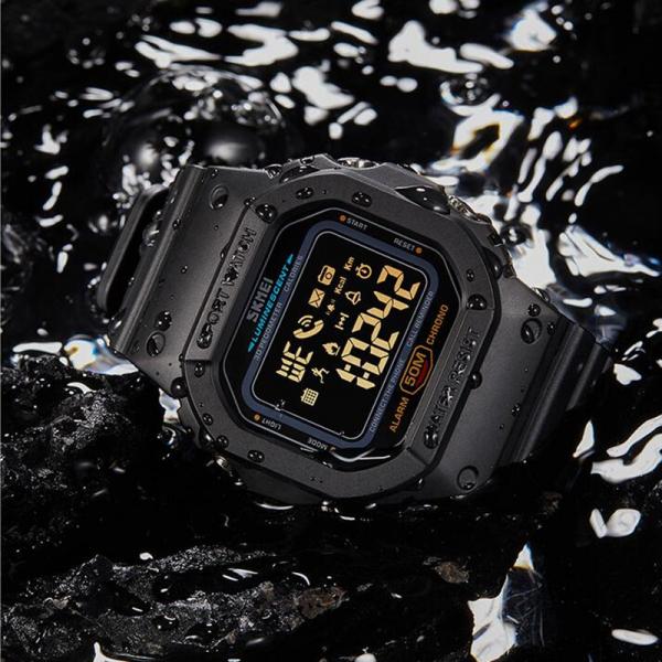 Skmei Ceas smartwatch inteligent Bluetooth Sport Fitness Tracker Led 5