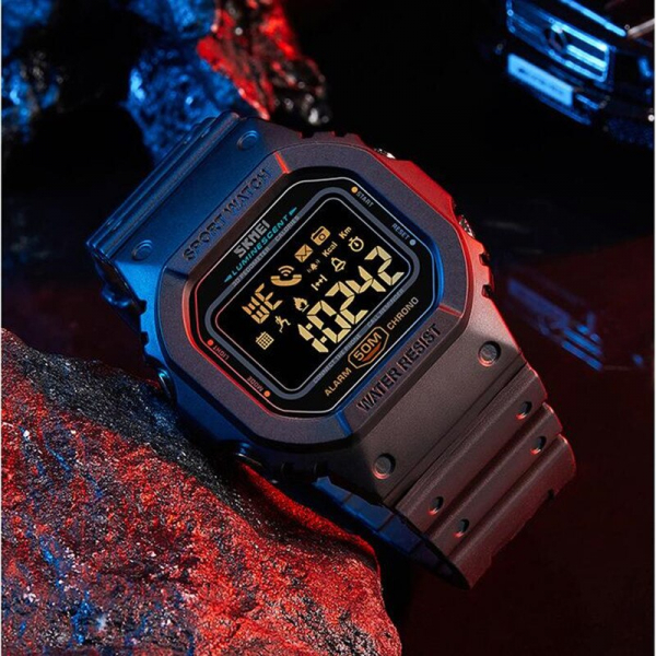 Skmei Ceas smartwatch inteligent Bluetooth Sport Fitness Tracker Led 4