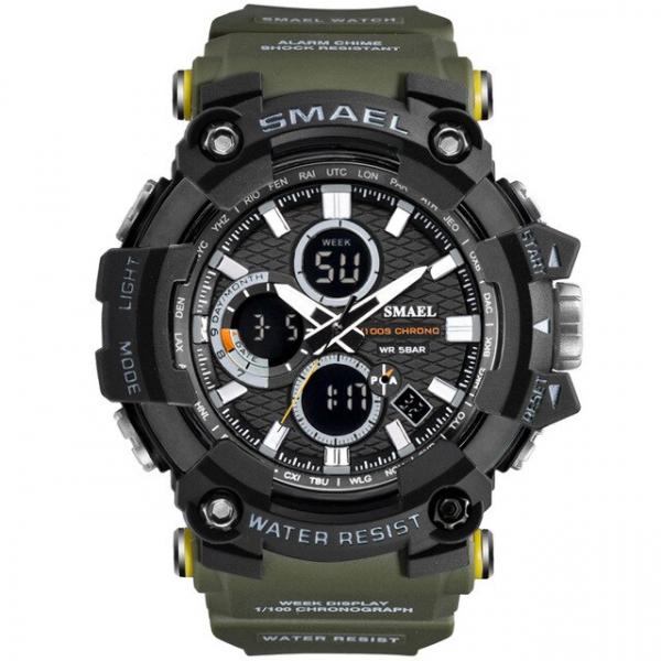 Smael Ceas barbatesc Army Cronograf Dual Time Militar Rezistent la socuri si apa [0]