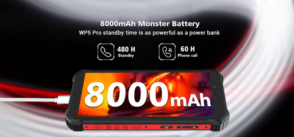 Telefon mobil, Smartphone Oukitel WP5 Pro, Android 10, 4G, 4GB RAM, 64GB ROM, IPS 5.5, Helio A25 OctaCore, Waterproof, 8000mAh, Dual SIM 4