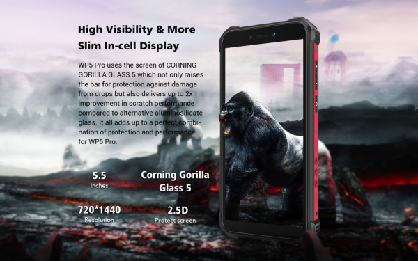 Telefon mobil, Smartphone Oukitel WP5 Pro, Android 10, 4G, 4GB RAM, 64GB ROM, IPS 5.5, Helio A25 OctaCore, Waterproof, 8000mAh, Dual SIM 6
