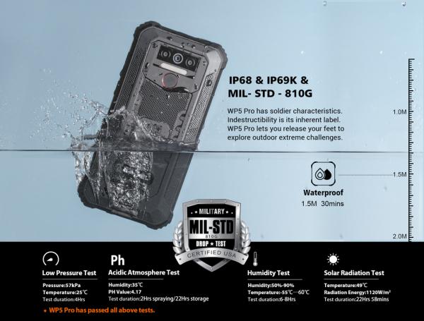 Telefon mobil, Smartphone Oukitel WP5 Pro, Android 10, 4G, 4GB RAM, 64GB ROM, IPS 5.5, Helio A25 OctaCore, Waterproof, 8000mAh, Dual SIM 9