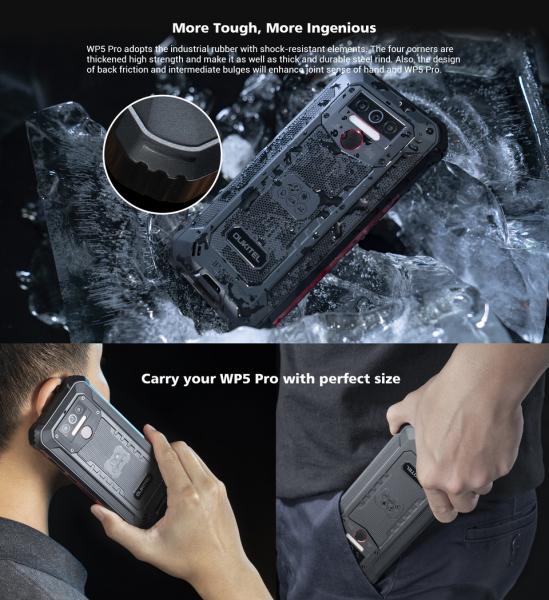 Telefon mobil, Smartphone Oukitel WP5 Pro, Android 10, 4G, 4GB RAM, 64GB ROM, IPS 5.5, Helio A25 OctaCore, Waterproof, 8000mAh, Dual SIM 10
