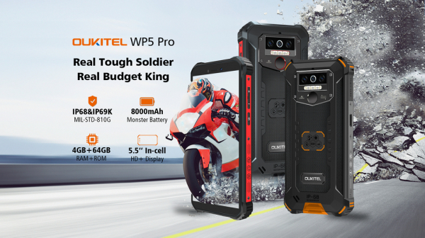 Telefon mobil, Smartphone Oukitel WP5 Pro, Android 10, 4G, 4GB RAM, 64GB ROM, IPS 5.5, Helio A25 OctaCore, Waterproof, 8000mAh, Dual SIM 11